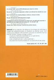 MethodiX ; chimie ; 200 méthodes, 150 exercices corrigés - 4ème de couverture - Format classique