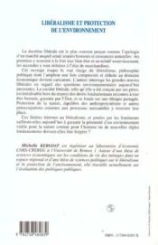 Liberalisme Et Protection De L'Environnement - 4ème de couverture - Format classique