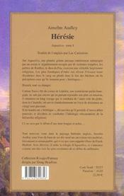 Aquasilva t.1 ; heresie - 4ème de couverture - Format classique