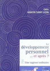 Le développement personnel... et après ? une sagesse ordinaire - Intérieur - Format classique