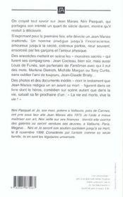 Jean marais sans masque - 4ème de couverture - Format classique