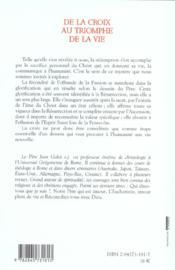 De La Croix Au Triomphe De La Vie - 4ème de couverture - Format classique
