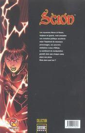 Scion T.3 - 4ème de couverture - Format classique