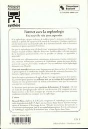 Former avec la sophrologie - 4ème de couverture - Format classique