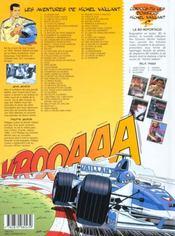 Michel Vaillant t.62 ; le sponsor - 4ème de couverture - Format classique