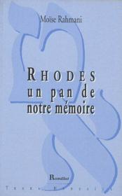 Rhodes, un pan de notre mémoire - Couverture - Format classique