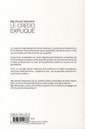 Le Credo Explique - 4ème de couverture - Format classique