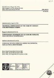 Administrative report of the technical consultation on the code of conduct for responsible fishing n.515 ; rome 1994 - Couverture - Format classique