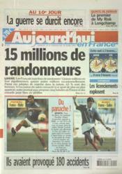 Aujourd'Hui En France N°557 du 29/03/2003 - Couverture - Format classique