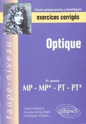 Optique 2e Annee Mp-Mp*-Pt-Pt* - Intérieur - Format classique