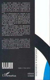 L'Analyse De L'Activite Et De La Formation Des Competences - 4ème de couverture - Format classique