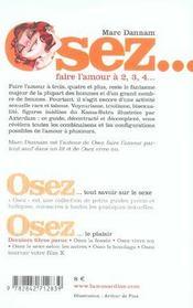 Osez ; Faire L'Amour A 2, 3, 4... - 4ème de couverture - Format classique