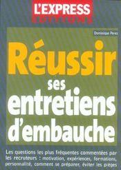 Reussir Ses Entretiens D'Embauche - Intérieur - Format classique