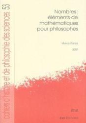 Nombres : éléments de mathématiques pour philosophes - Couverture - Format classique