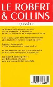 Robert & Collins Poche Espagno - 4ème de couverture - Format classique