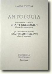 Antologia pour l'initiation au chant grégorien - Couverture - Format classique