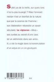 Vigneron Vendangeur Pressureur - 4ème de couverture - Format classique