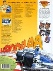 Michel Vaillant t.16 ; km.357 - 4ème de couverture - Format classique