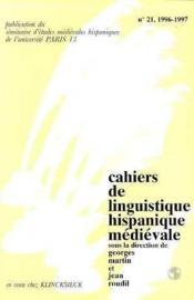 Clhm t.21/1996-1997 melanges roudil t.1 - Couverture - Format classique