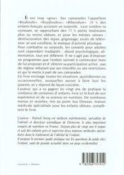 Maigrir special enfant - 4ème de couverture - Format classique