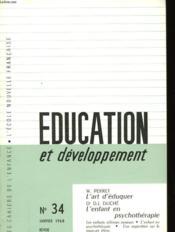Education Et Developpement N°34 - Couverture - Format classique
