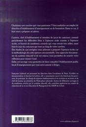 Personnel de direction ; présentation du concours ; essentiel du système éducatif méthodologie, conseils - 4ème de couverture - Format classique