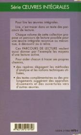 L'école des femmes, de Molière - 4ème de couverture - Format classique