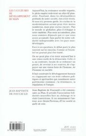 Les Trois Cultures Du Developpement Humain - 4ème de couverture - Format classique