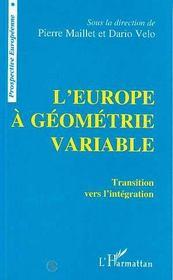 L'Europe A Geometrie Variable - Intérieur - Format classique