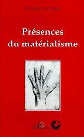 Presences Du Materialisme - Intérieur - Format classique