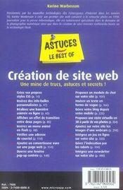 Création de site web - 4ème de couverture - Format classique