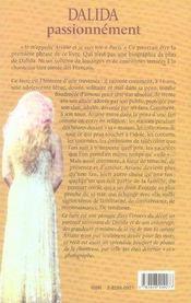 Dalida passionnément - 4ème de couverture - Format classique