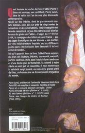 L'Abbe Pierre, Une Vie - 4ème de couverture - Format classique