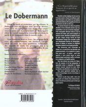 Le Dobermann - 4ème de couverture - Format classique