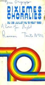 Dixiemes Choralies De Vaison La Romaine. 28 Juillet-13 Août 1980 - Couverture - Format classique