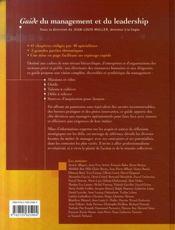 Guide du management et du leadership - 4ème de couverture - Format classique