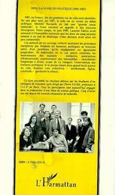 Sida Et Politique ; Les Premiers Affrontements, 1981-1987 - 4ème de couverture - Format classique