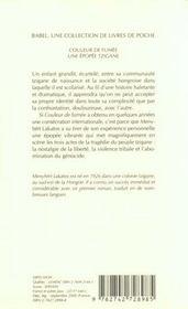 Couleur De Fumee ; Une Epopee Tzigane - 4ème de couverture - Format classique