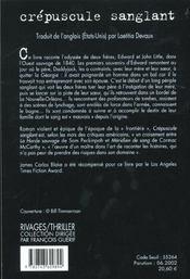 Crépuscule sanglant - 4ème de couverture - Format classique