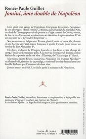 Jomini, le double de Napoléon - 4ème de couverture - Format classique