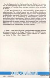 Mythes Et Espoirs Du Tiers-Mondisme - 4ème de couverture - Format classique