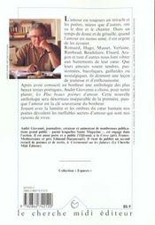 Les Plus Beaux Poemes D'Amour - 4ème de couverture - Format classique