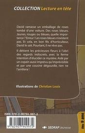 Lecture En Tete ; Le Mystere De La Rose Bleue ; Ce2-Cm1 - 4ème de couverture - Format classique