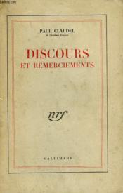 Discours Et Remerciements. - Couverture - Format classique