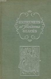Entrements Et Boissons Glaces - Couverture - Format classique