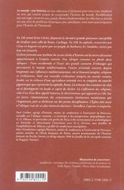 L'afrique romaine ; 146 avant j.-c.- 439 après j.-c. - 4ème de couverture - Format classique
