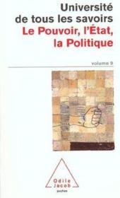 Le Pouvoir, L'Etat, La Politique - Couverture - Format classique