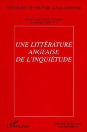 Une littérature anglaise de l'inquiétude - Couverture - Format classique