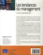 Les tendances du management - 4ème de couverture - Format classique