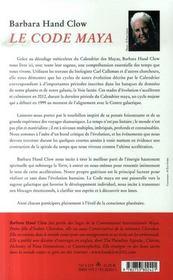 Le code Maya, 2012 la fin d'un monde - 4ème de couverture - Format classique